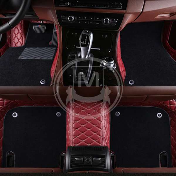 Red Mats Quality Set Of Reinforced Black All Carpet Protectors For VW