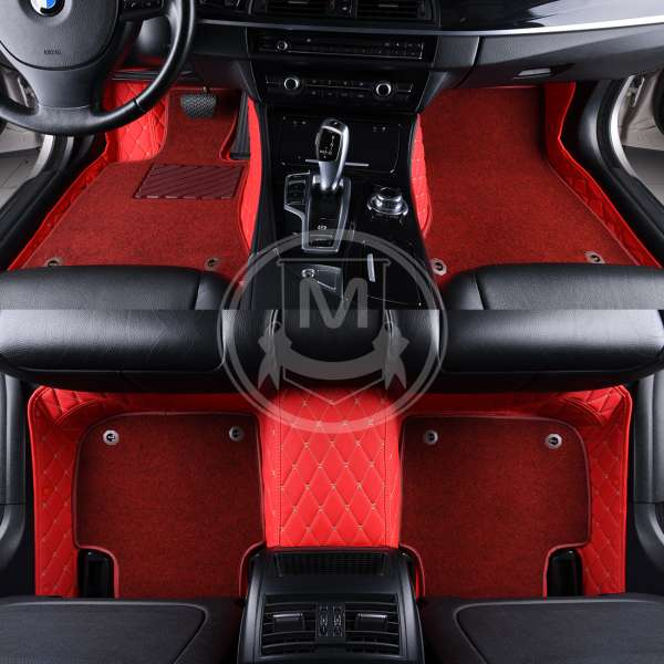Racing red V3 Manicci Luxury Car Mats